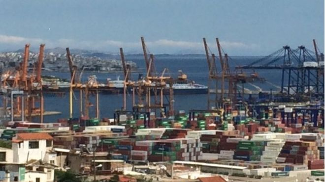 The port of Piraeus in Greece