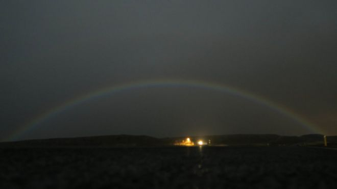 A photograph of the lunar rainbow