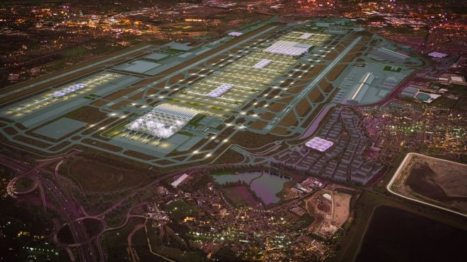 Futuristic designs for Heathrow with third runway released.........