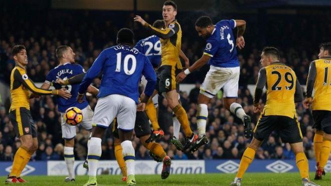 Arsenal walishinda michezo mitatu kabla ya kufungwa na Everton