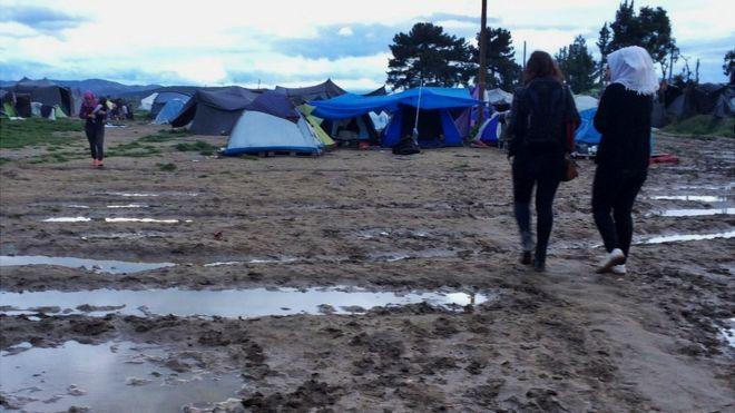 Mud at Idomeni camp