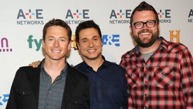 Tanner Foust, Adam Ferrara and Rutledge Wood