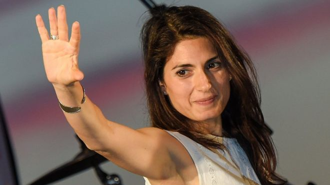 Virginia Raggi, the Five Star Movement candidate for the mayoral elections in Rome
