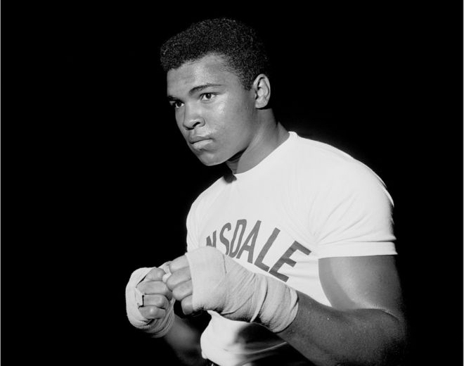 May 6th 1966: Muhammad Ali in training for his title fight against Henry Cooper. copyright PRESS ASSOCIATION