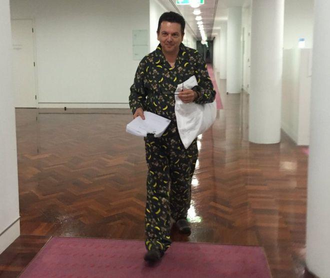 Weird behavior abounds as australian senate pulls all for Farcical behavior