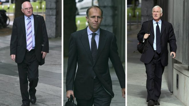 Willie McAteer, John Bowe and Denis Casey were convicted last month after the longest trial in Irish criminal history