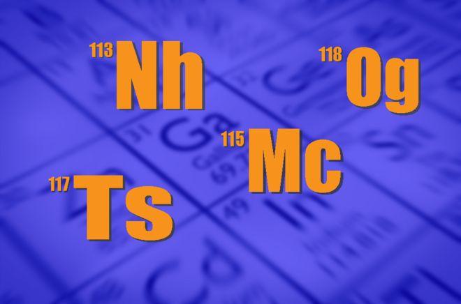 Cuál es el nombre de los nuevos elementos de la tabla periódica