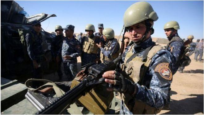Wanajeshi wa Iraq, wakijiandaa na mapambano