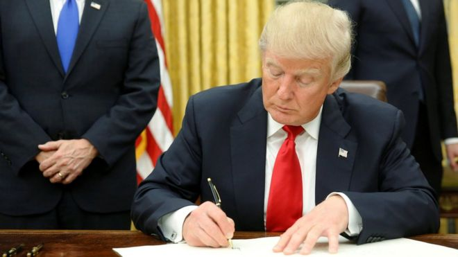 Image result for trump signing