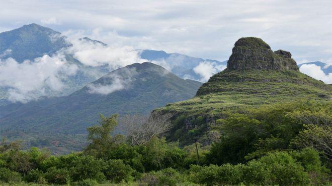 Tierras y montañas en el Departamento del Cauca