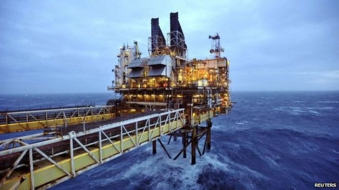Rig in north sea