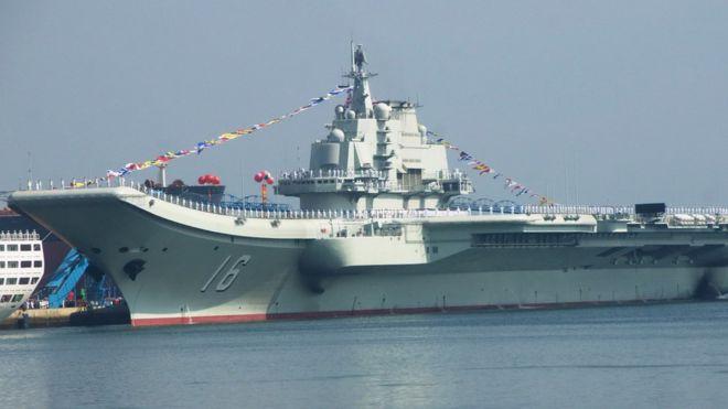 tàu hàng không mẫu hạm Liêu Ninh của TQ
