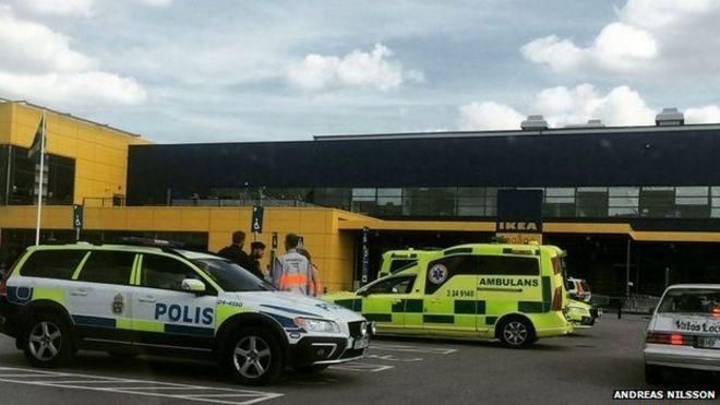Ikea stabbing Vasteras Sweden