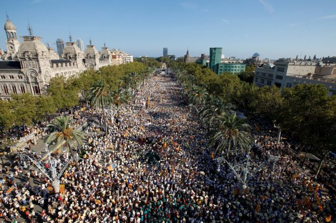 March in Barcelona, 11 September