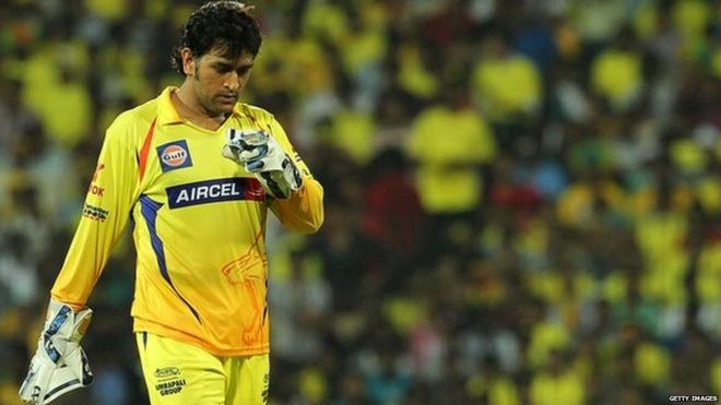 MS Dhoni leads Chennai Super Kings