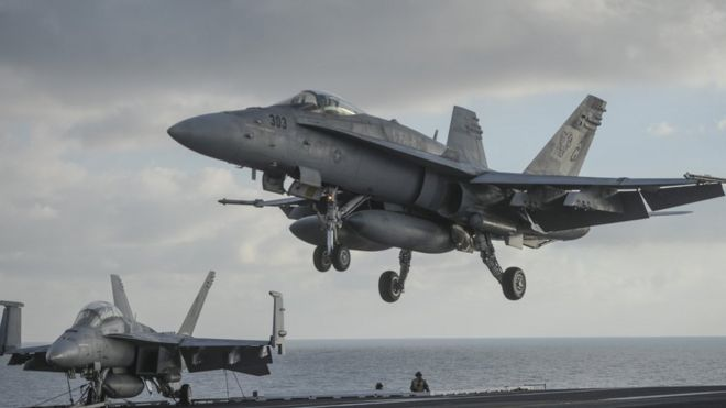 US-led coalition strike 'destroys IS bank in Iraq'