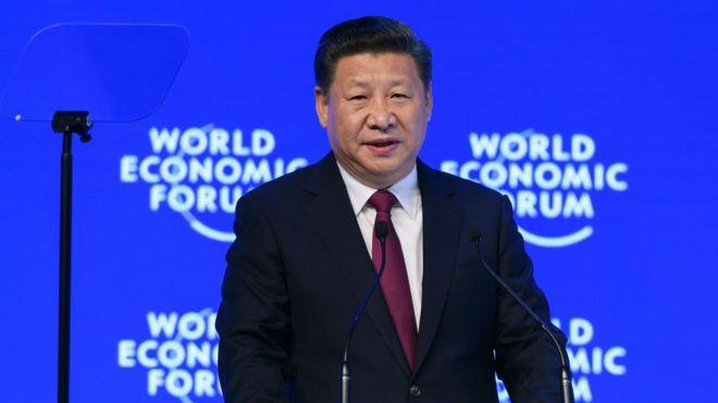习近平为自由贸易辩护挑战特朗普