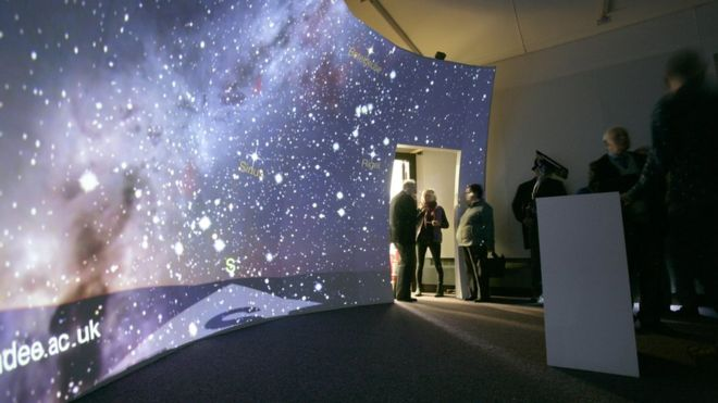 Interactive Screen at the Mills Observatory