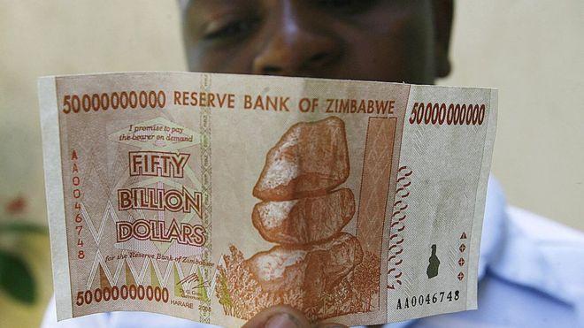 Zim dollar note