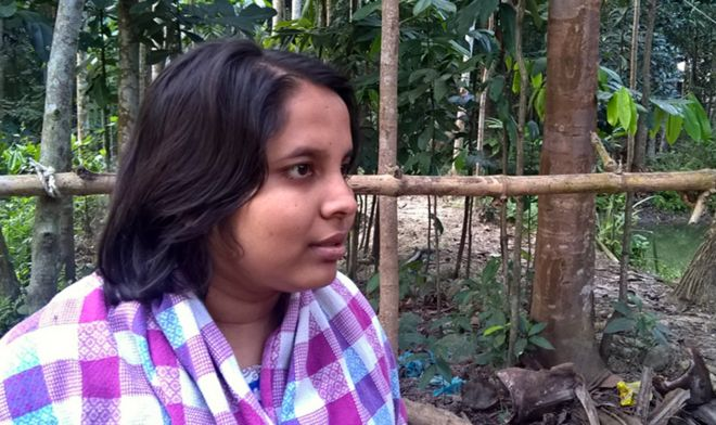 Sanjida in her home village
