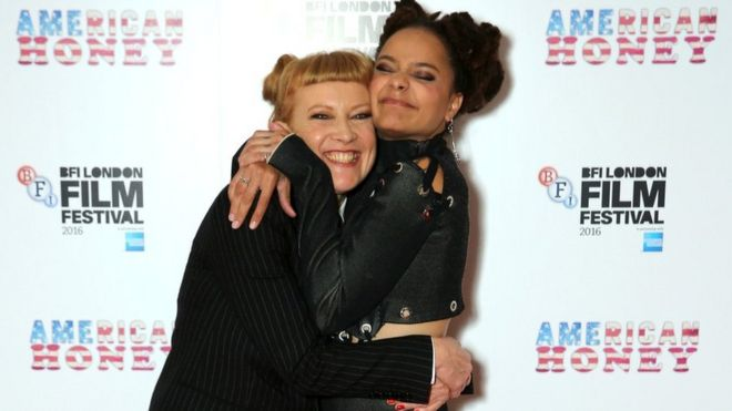 Andrea Arnold and Sasha Lane