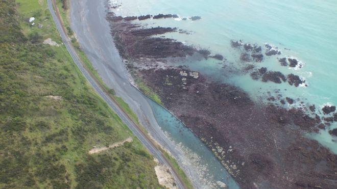 El levantamiento del lecho marino desde Kaikoura.