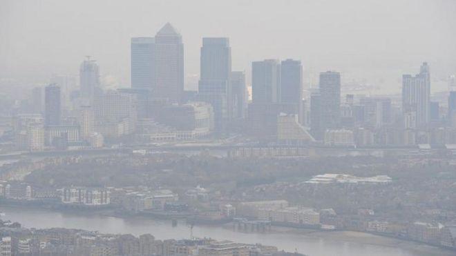 Contaminación sobre Londres.