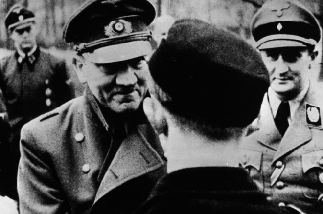 Hitler - last official photo (Getty Images)