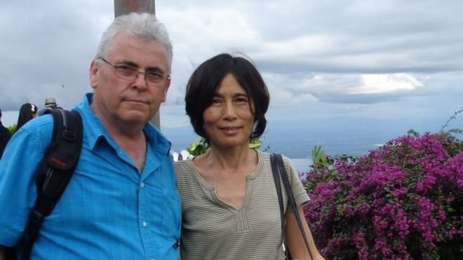 韩飞龙(Peter Humphrey)和美籍华裔妻子虞英曾