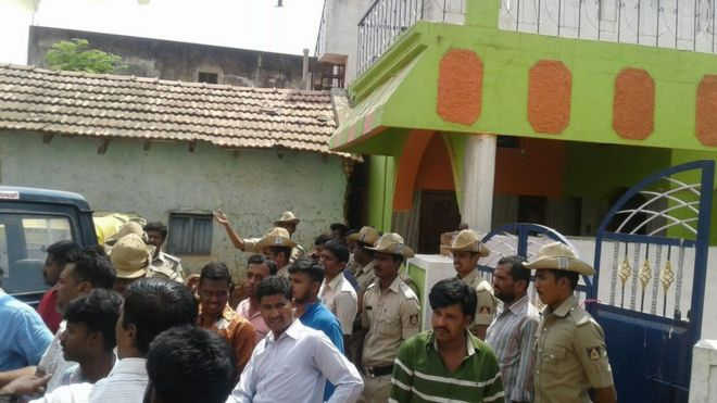 As news about the incident spread, a mob gathered outside the brother and sister's home