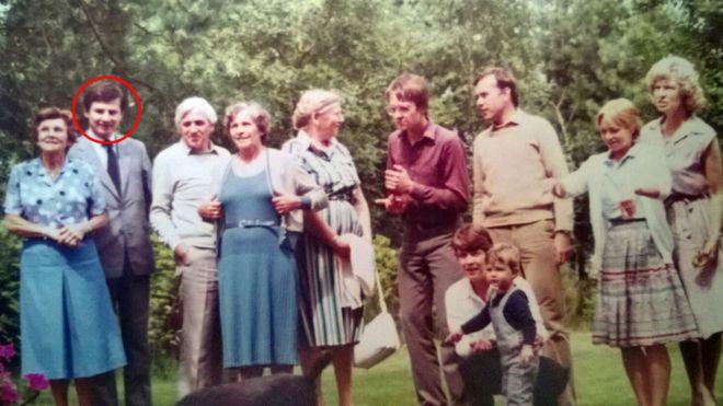 Erwin van Haarlem (circled) at a family gathering