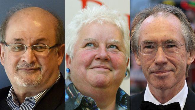 Salman Rushdie, Val McDermid and Ian McEwan