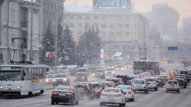 движение в центре Екатеринбурга