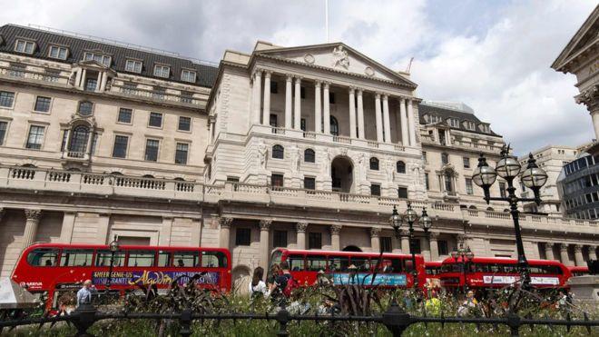 Londra'daki İngiltere Merkez Bankası binası.