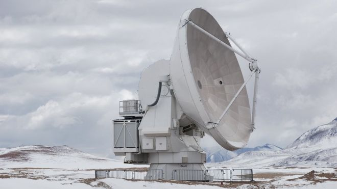 A view of one of the antennas
