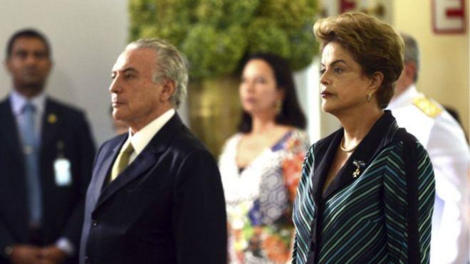 Michel Temer y Rousseff