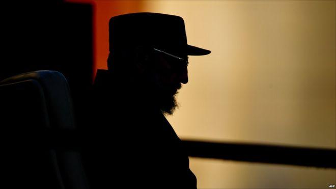 Cuban former President Fidel Castro gives a speech, on September 3, 2010, at Havana's University.