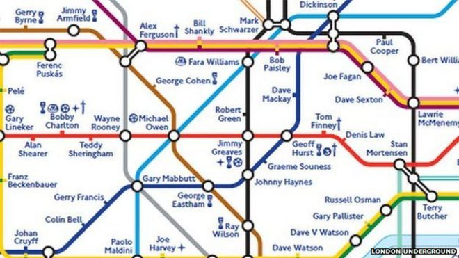 Footballers take over London Underground map BBC News – London Transport Tube Map