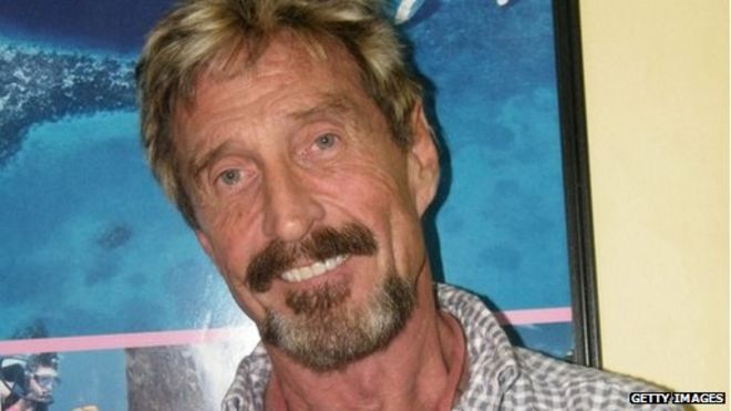 Image caption Mr McAfee has repeatedly denied any involvement in the death of Gregory Faull - _71110166_mcafe