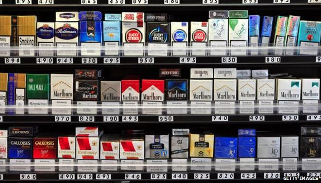 Duty free shop cigarettes Benson Hedges