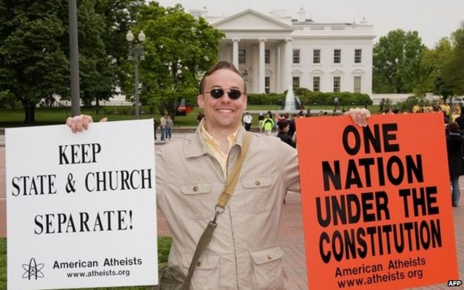 Atheist protest at White House