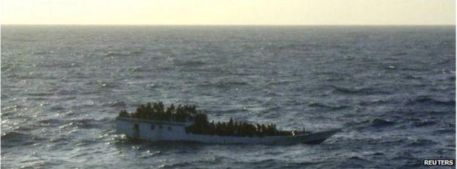 Boat of asylum seekers off Christmas Island (June 2012)