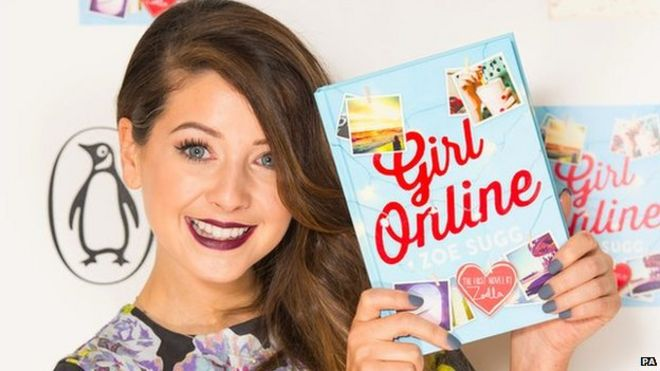 Zoella's first book Girl Online outsells JK Rowling's debut offering.
