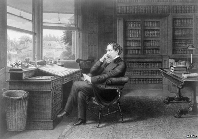 Dickens in his study at Gad's Hill Place (c) Alamy