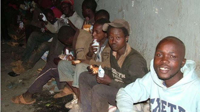 Street children in Nairobi, Kenya