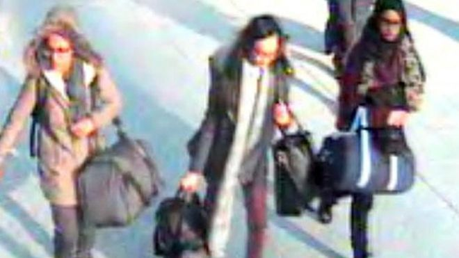 CCTV image of the girls at Gatwick airport