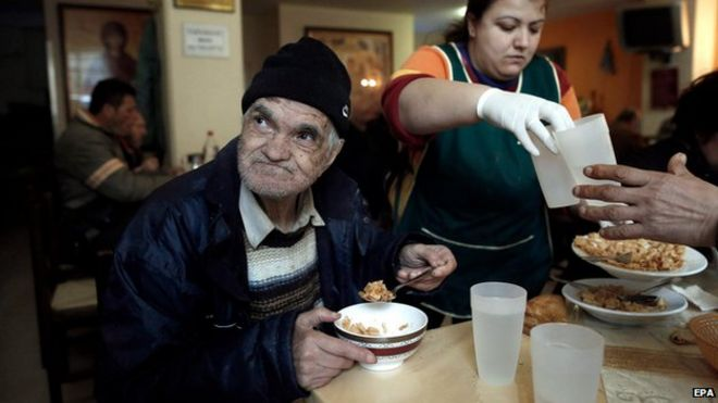 Soup kitchen in Greece