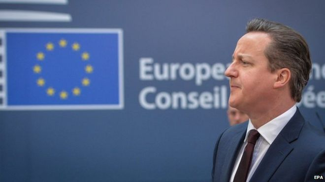 UK Prime Minister David Cameron in Brussels, 20 Mar 15