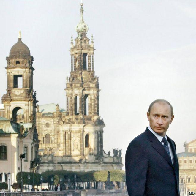 Vladimir Putin a Dresda nel 2006