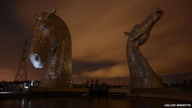 Breathtaking Kelpies Horse-Head Sculptures In Scotland